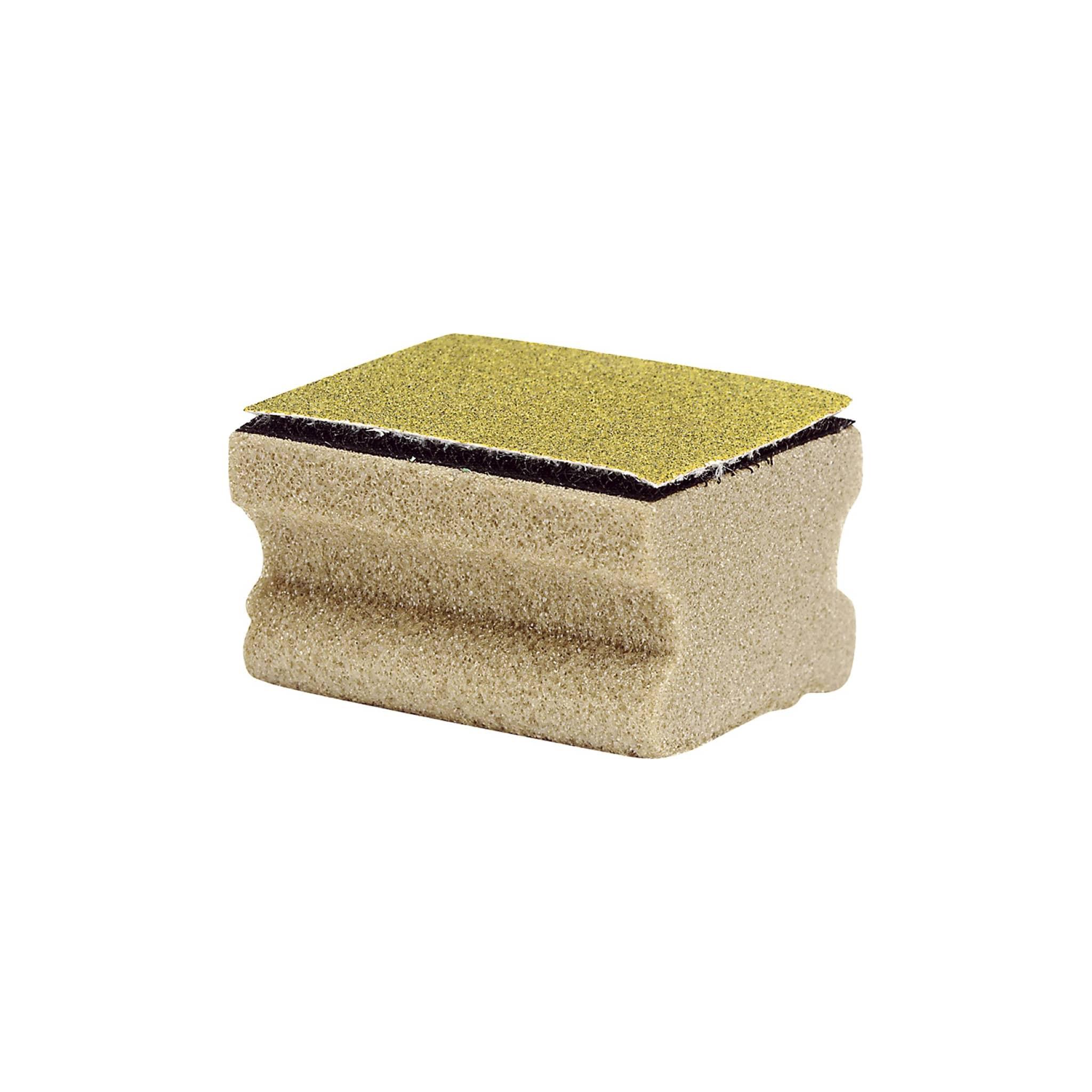 Kork med borrelås til sandpapir.