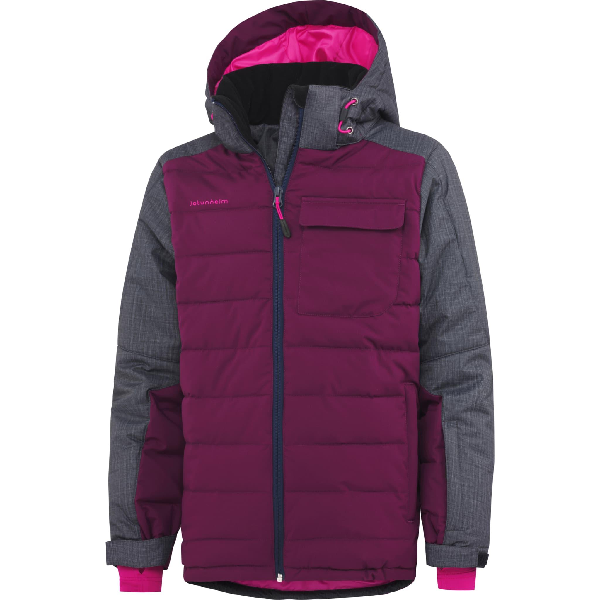 Vannavvisende, vindtett og ventilerende jakke til aktive vinterbarn