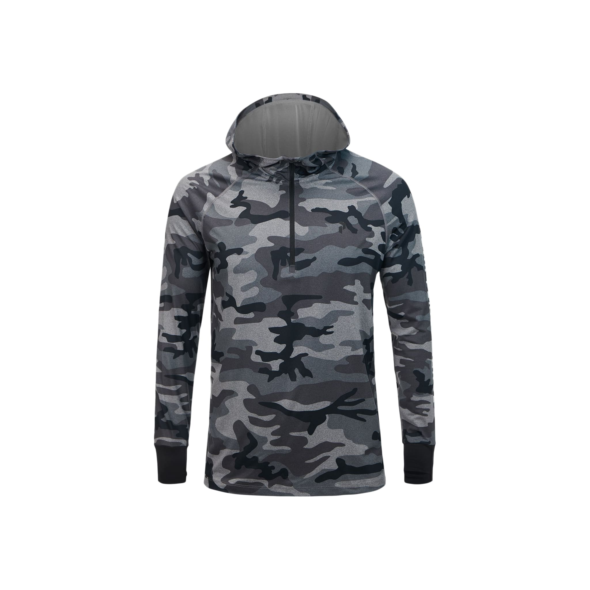 Spirit Printed Hooded Melange Jacket