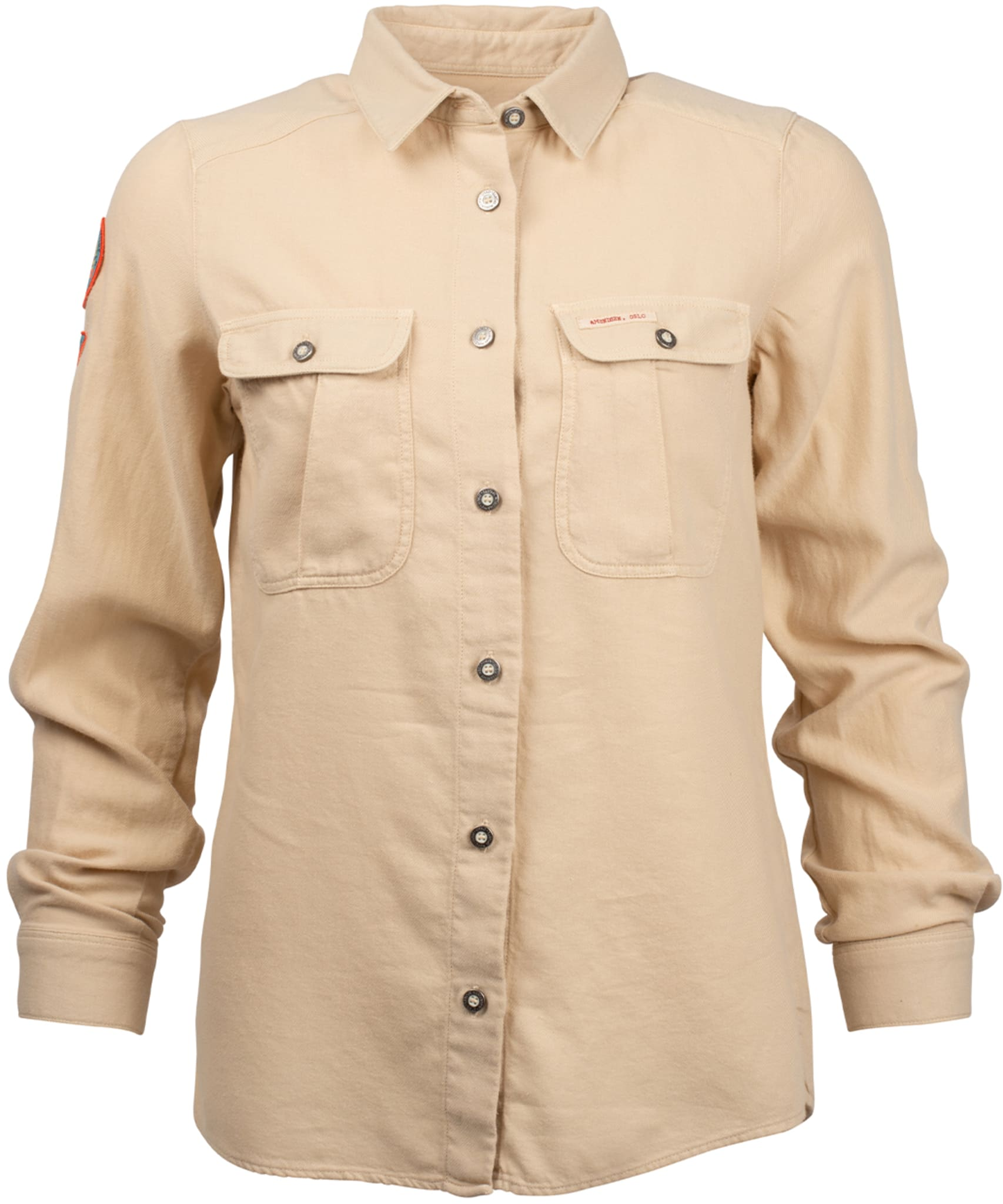 Safari Shirt Flannel Shirt Garment Dyed Womens