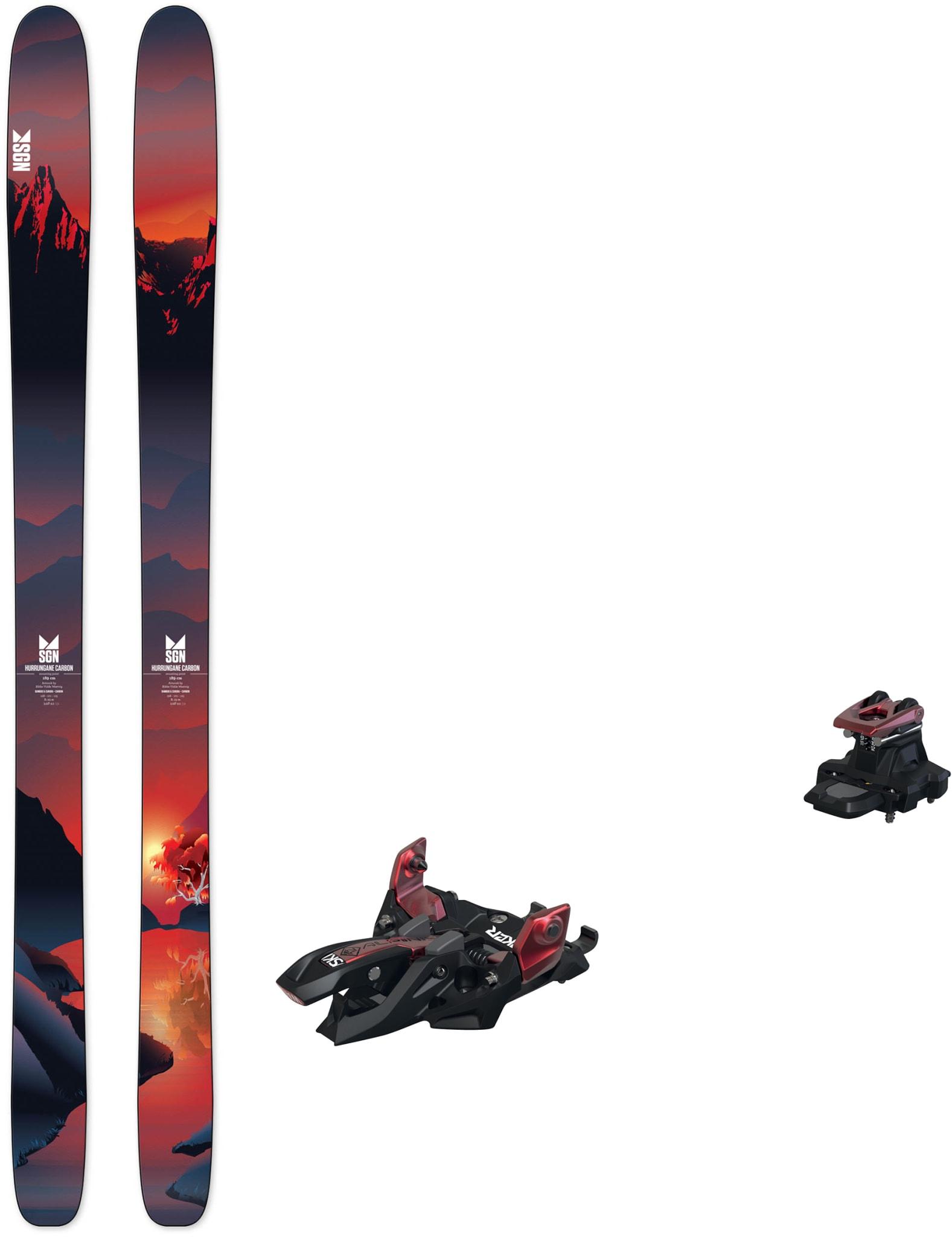 Hurrungane Carbon med Marker Alpinist 12