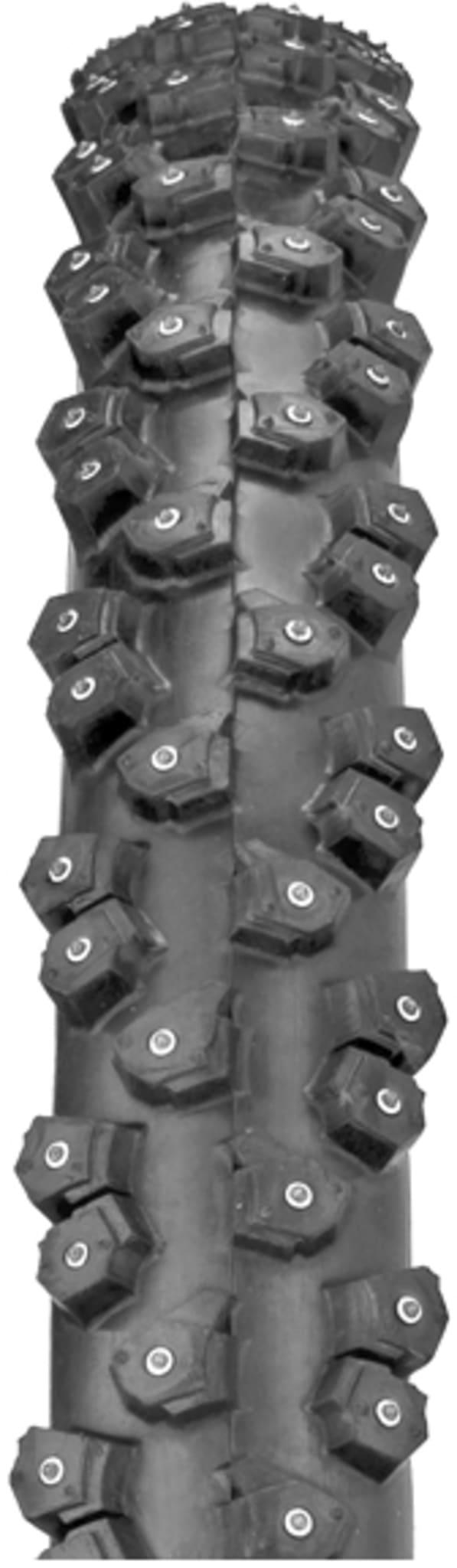 Piggdekk for ekstrem MTB sykling på snø og is med 312 aluminiumspigger