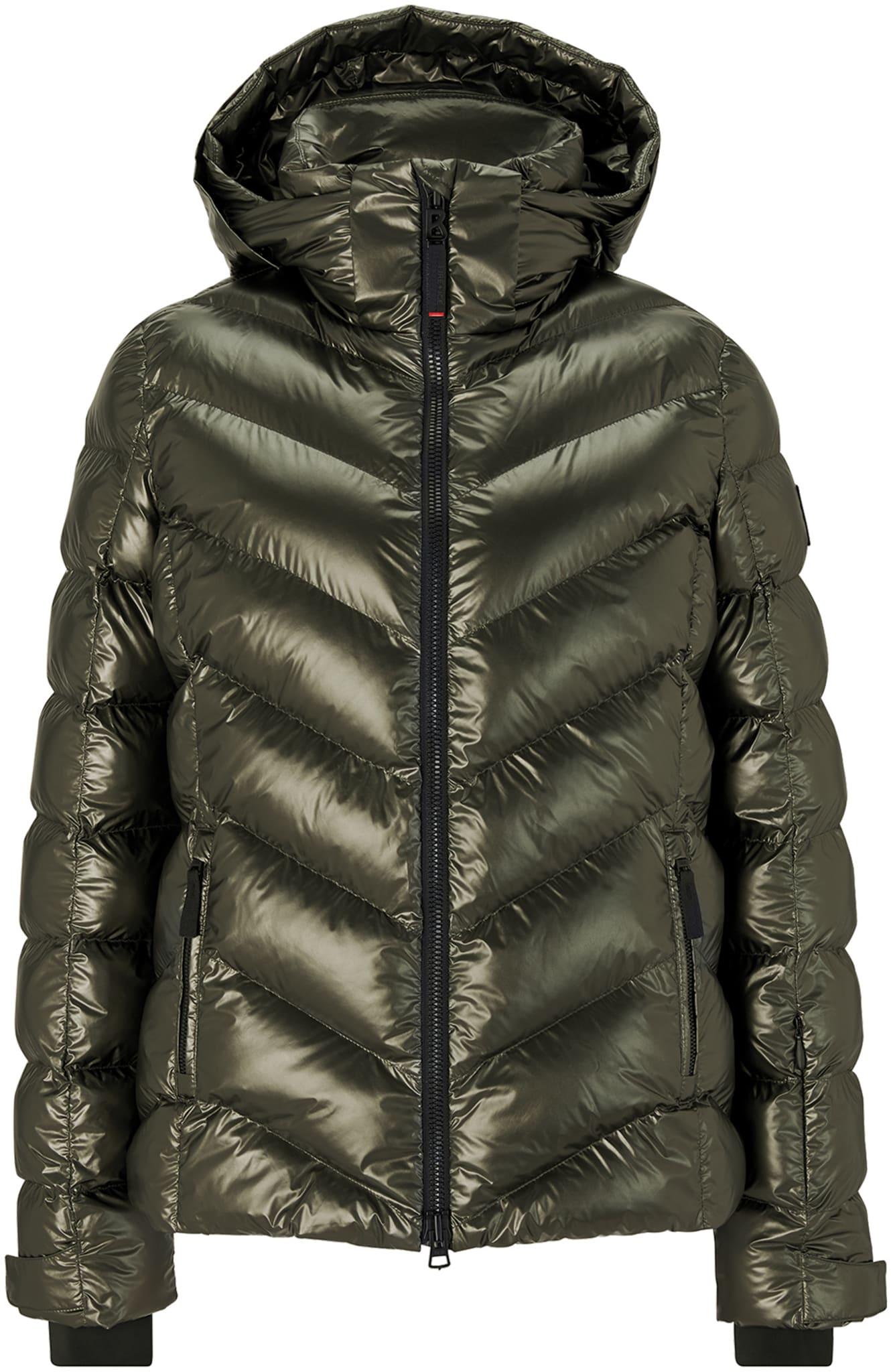 Varm jakke i mykt nylonmateriale med glanset belegg