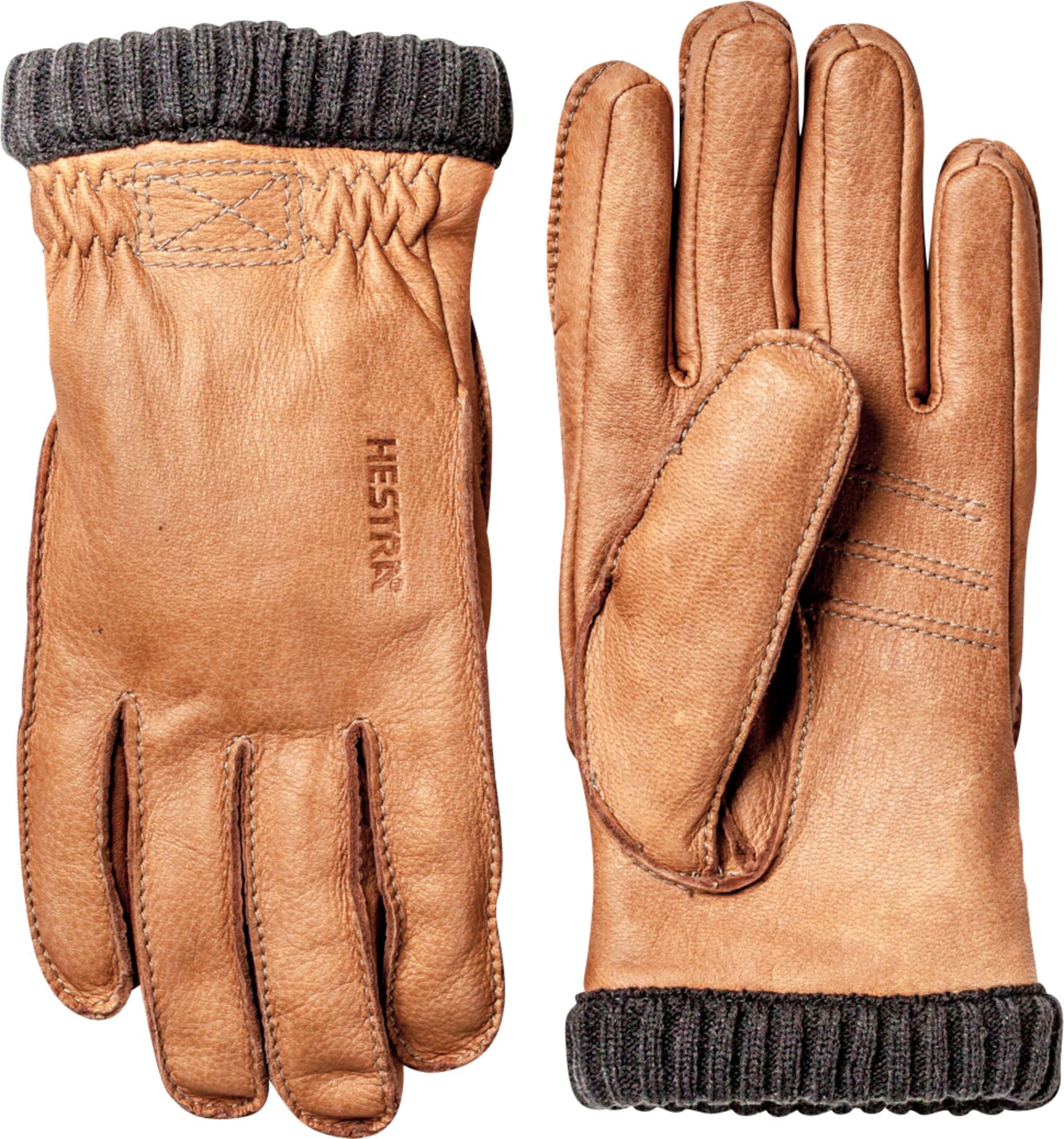 Myk og varm hanske med en strikket mansjett