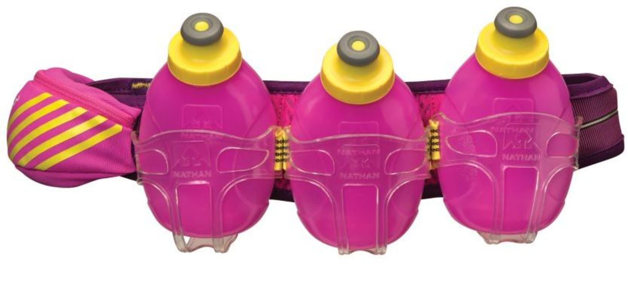Drikkebelte med tre myke flasker