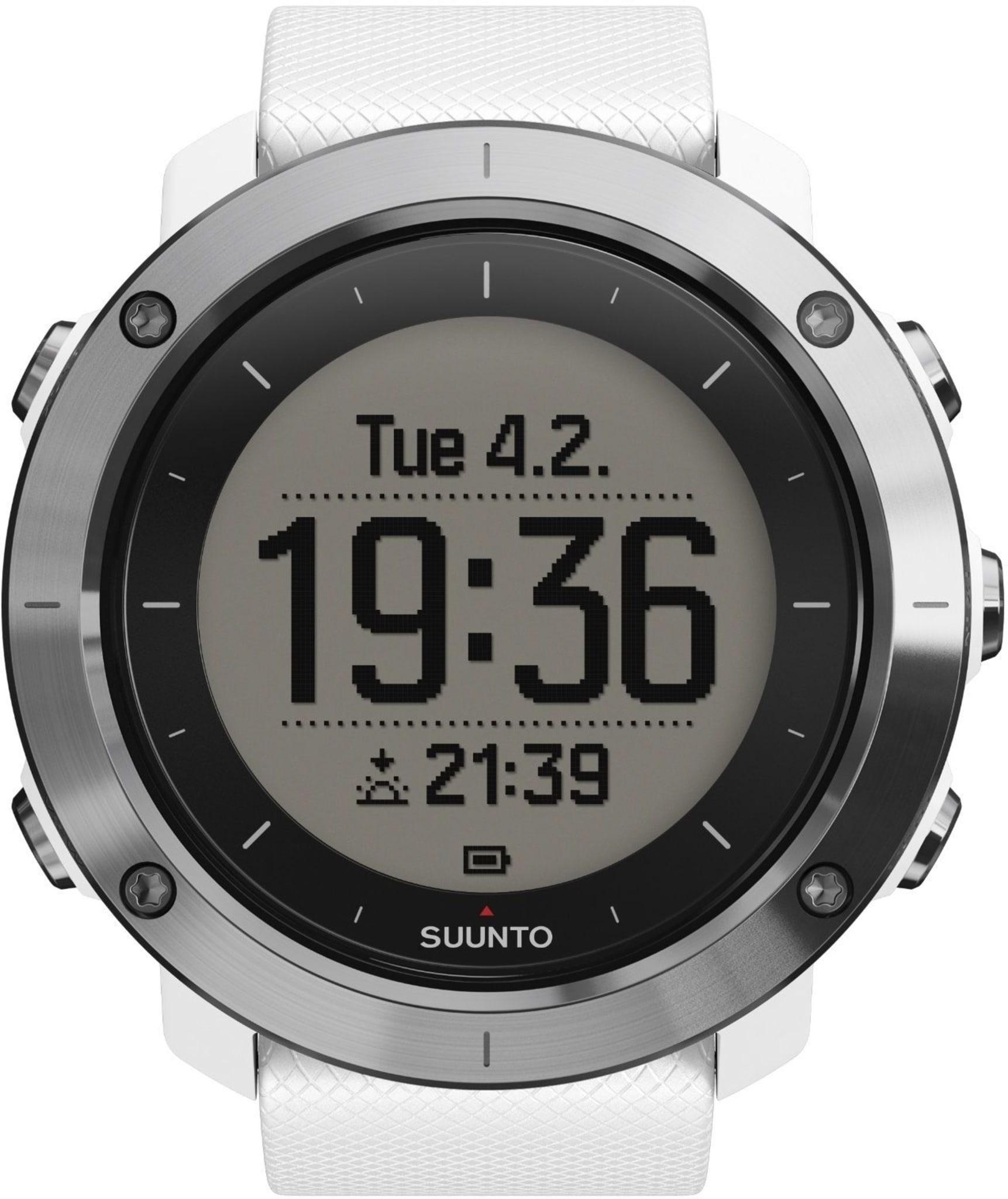 Friluftsklokke med Alti/Baro/kompass,integrert GPS og Bluetooth.