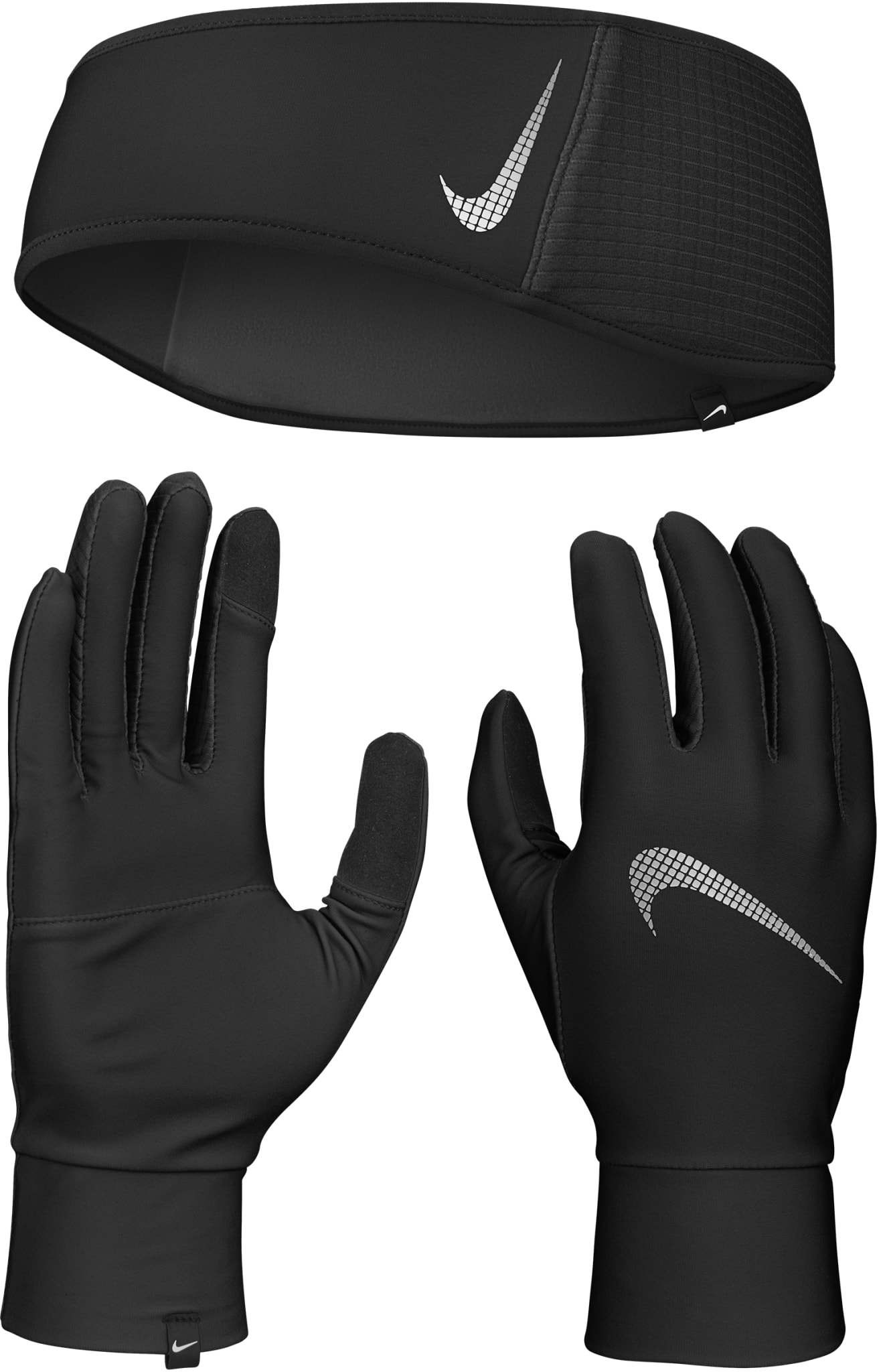 Essential Running Headband and Glove Set Men
