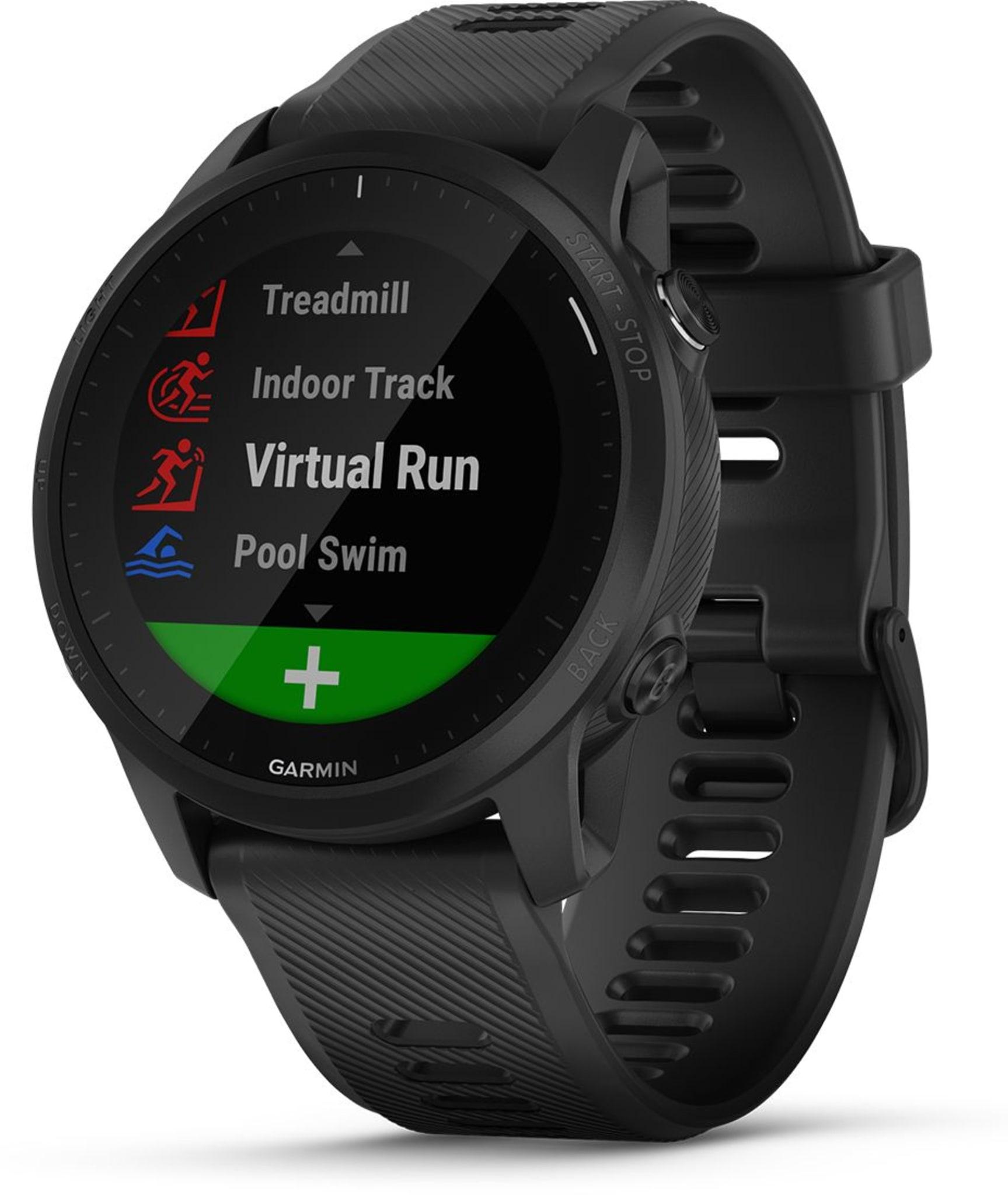 Multisportklokke med GPS-, puls-, kart-, LTE- og musikkfunksjoner