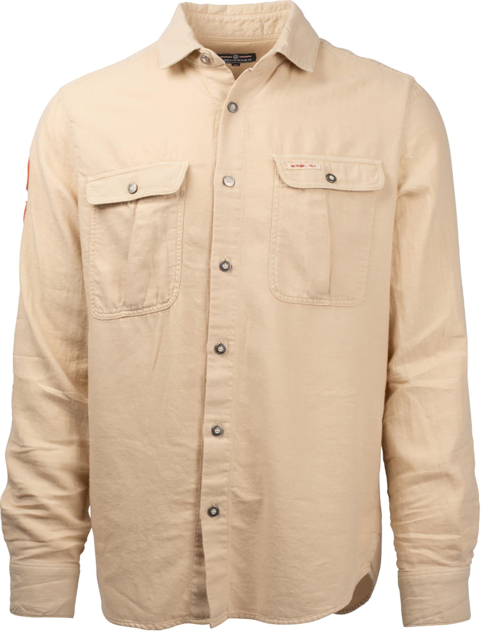 Safari Shirt Flannel Shirt Garment Dyed Mens