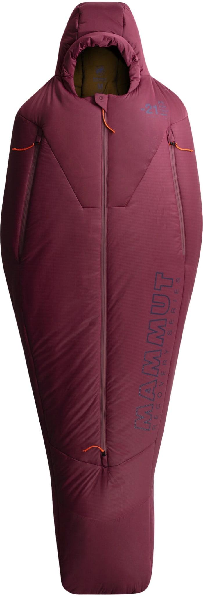 Sovepose til de kalde vinterdagene, med åpning til armene og lyddempende hette