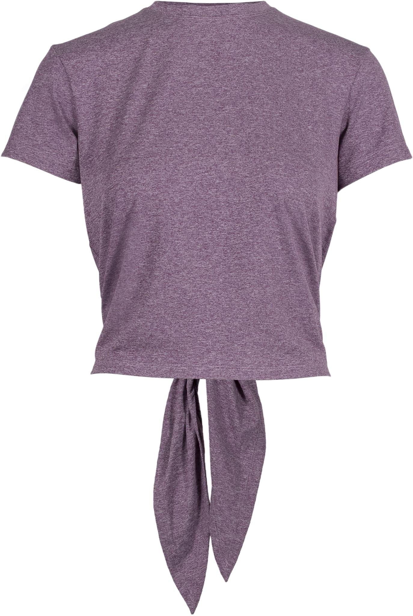 Trenings-T-skjorte med splitt som kan knytes foran eller bak