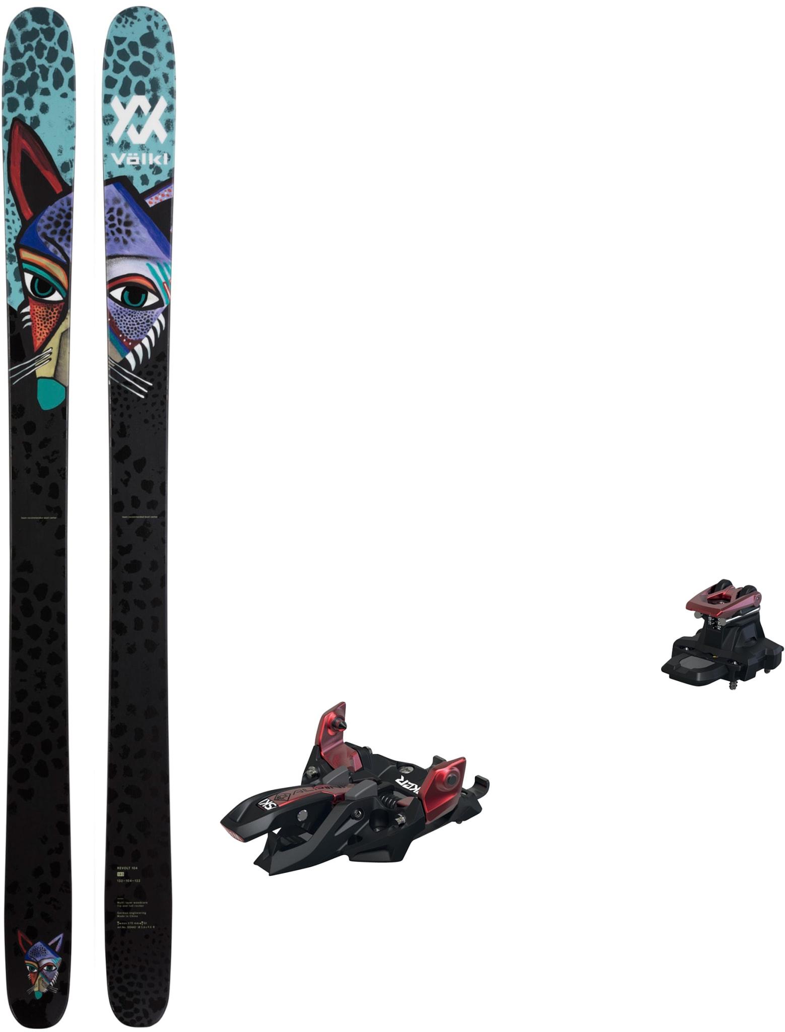 Revolt 104 med Marker Alpinist 12