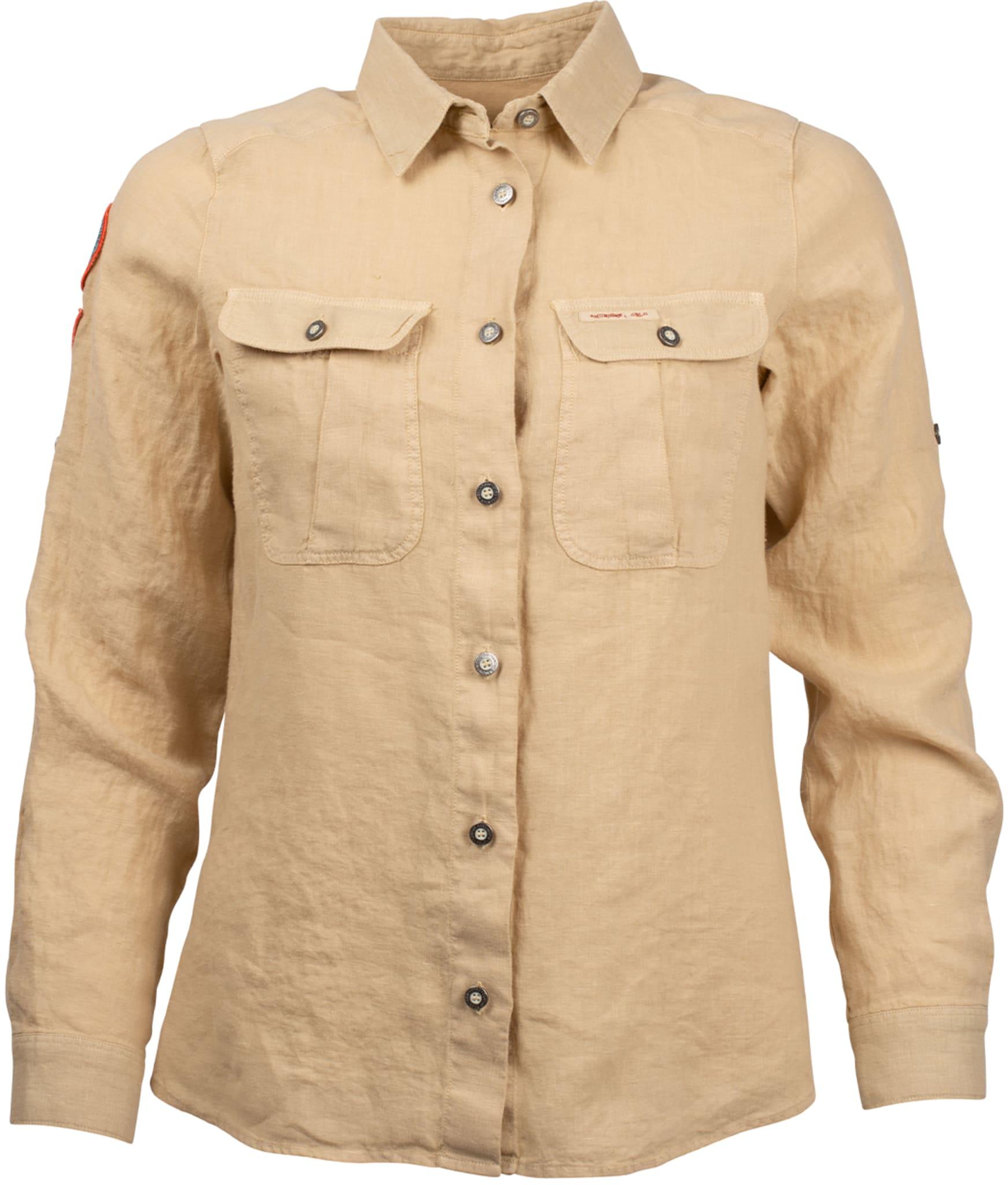 Safari Linen Shirt Garment Dyed Womens