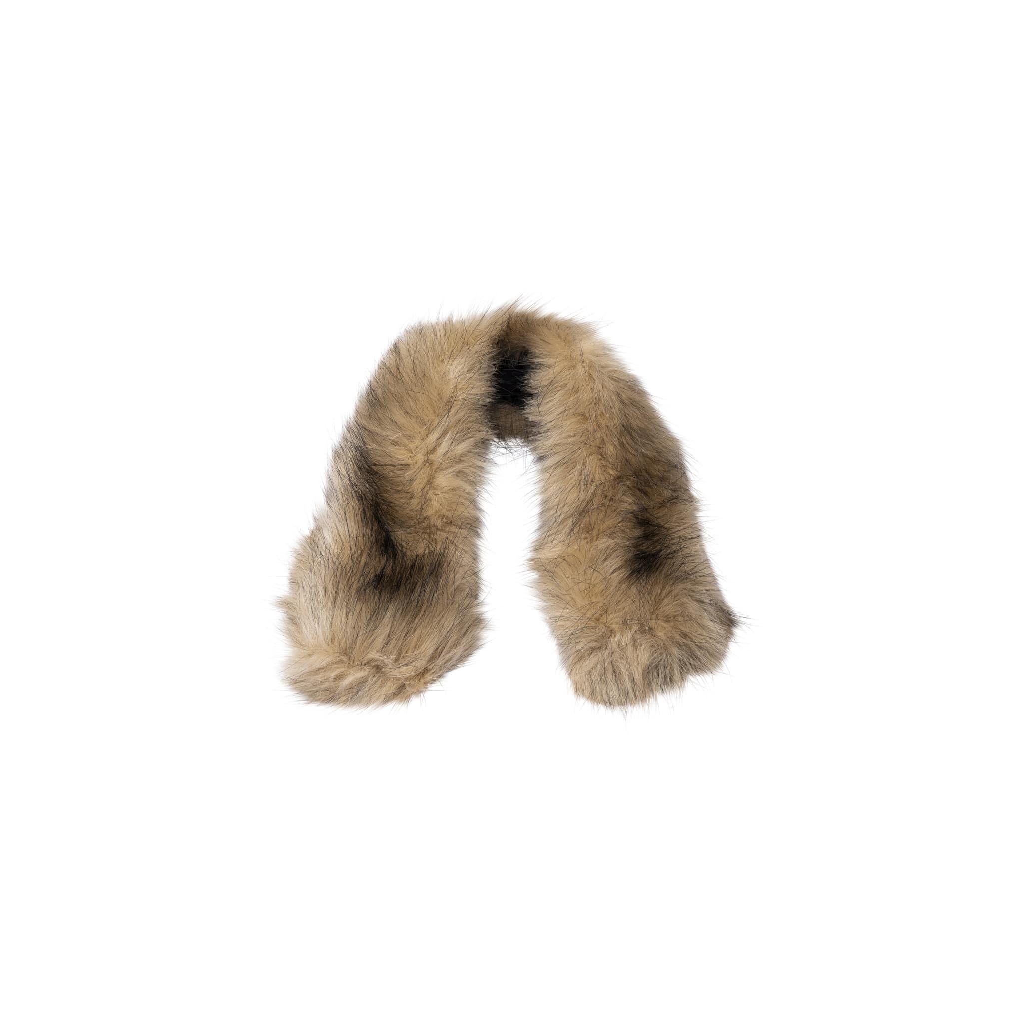 Ski Hood Synthetic Fur Trim W