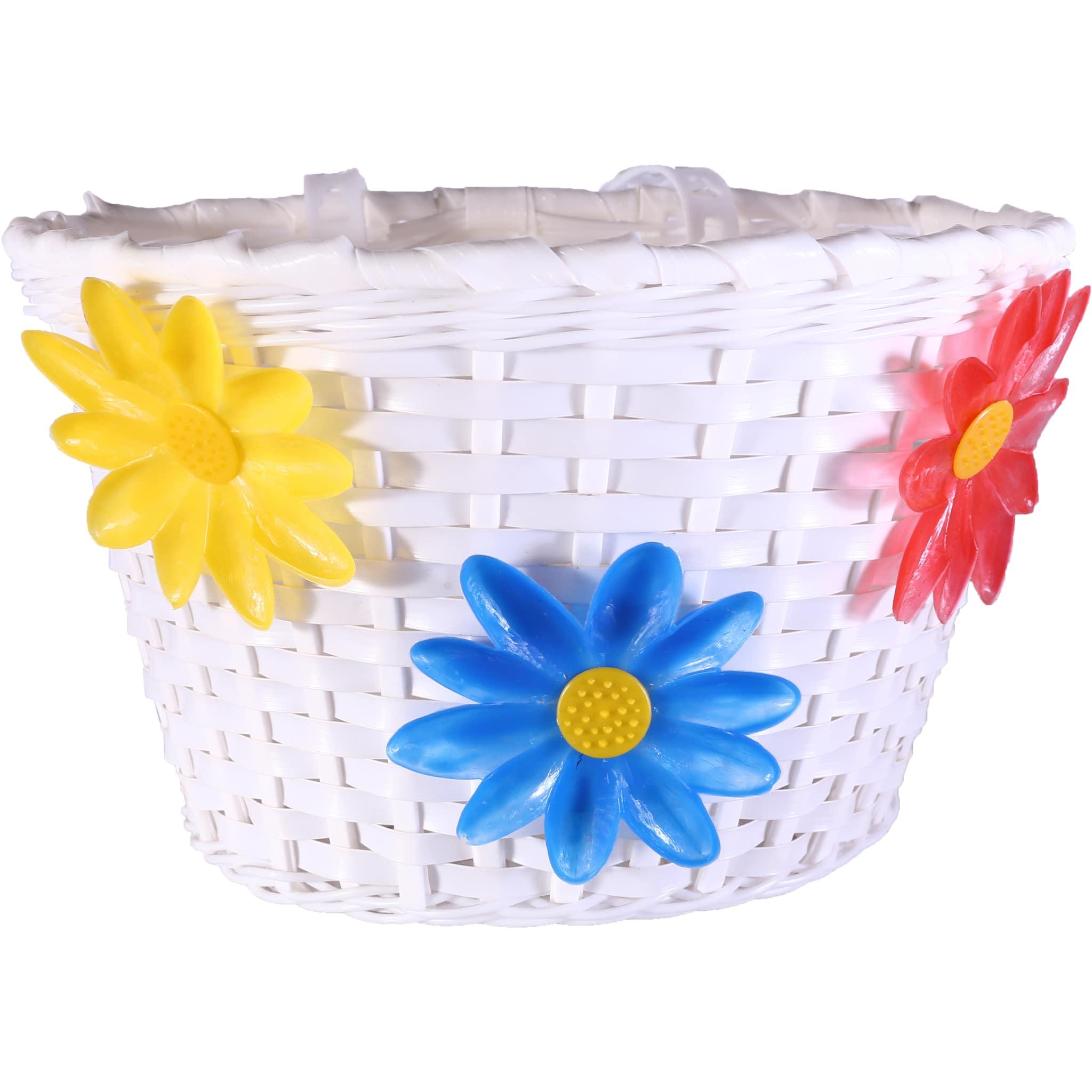 Kurv Jr.Plast med Blomster