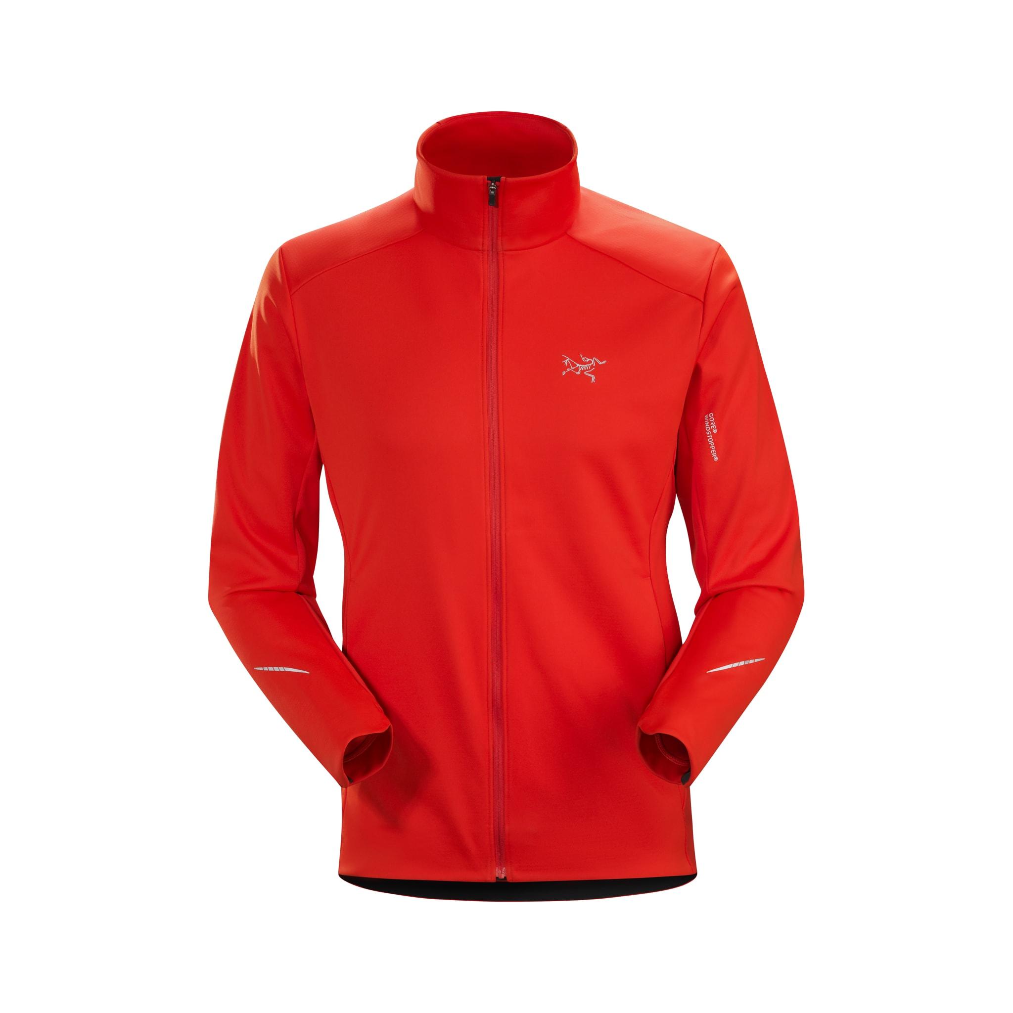Treningsjakke som liker seg best når det er kaldt, vind og vått.
