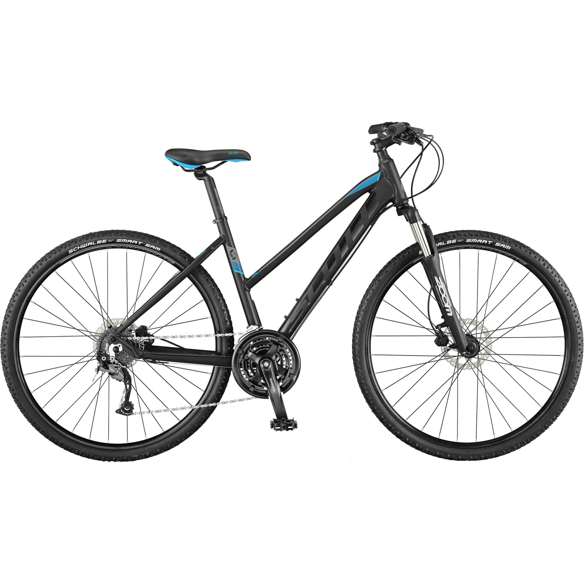Sporty hybrid sykkel med et stort bruksområde.
